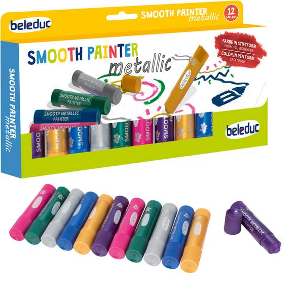 Set of 12 Smooth Metallic Painter