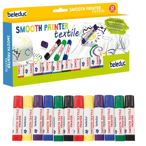 Set of 12 Smooth Textile Painter